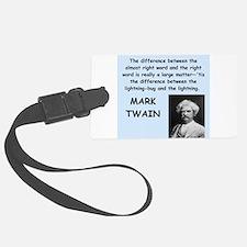Mark Twain Quote Luggage Tag