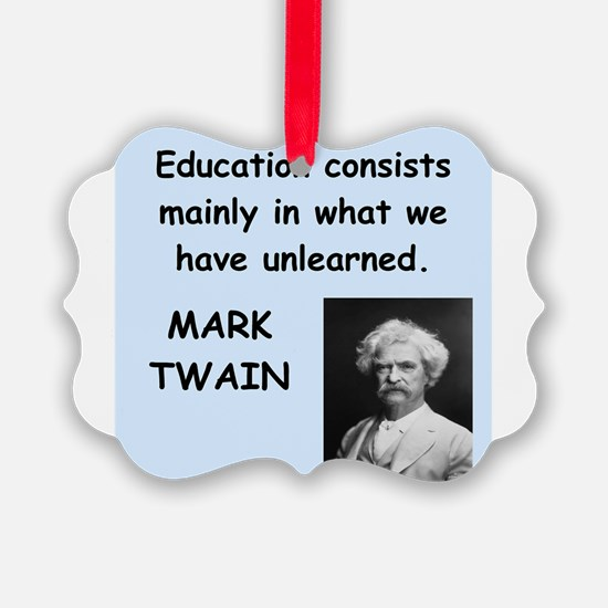 Mark Twain Quote Ornament