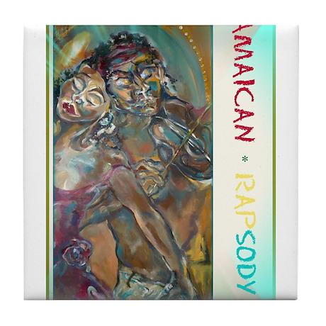 Jamaican Rapsody Tile Coaster