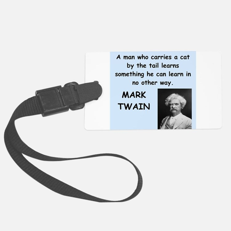 Mark Twain Quote Luggage Tag
