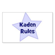 Kaden Rules Rectangle Decal