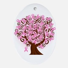 The Tree of Life...Breast Cancer Ornament (Oval)