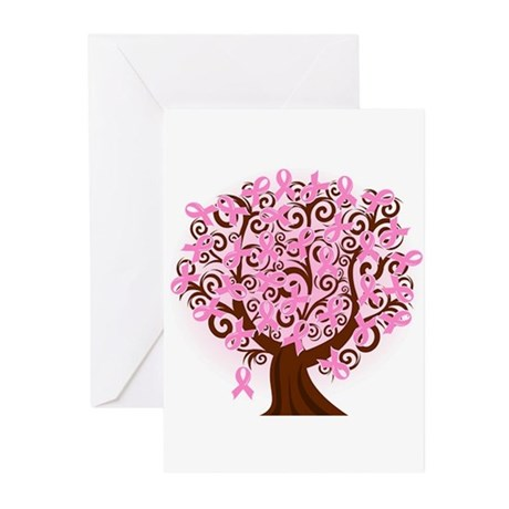 The Tree of Life...Breast Cancer Greeting Cards (P
