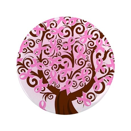 "The Tree of Life...Breast Cancer 3.5"" Button (100"