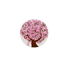The Tree of Life...Breast Cancer Mini Button (10 p