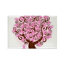 The Tree of Life...Breast Cancer Rectangle Magnet