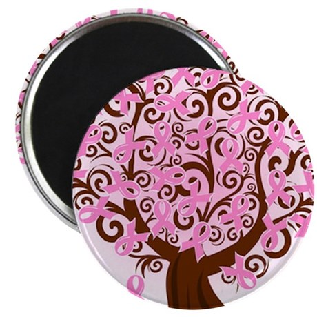 """The Tree of Life...Breast Cancer 2.25"""" Magnet (100"""