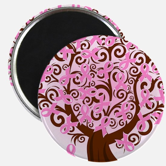 "The Tree of Life...Breast Cancer 2.25"" Magnet (10"