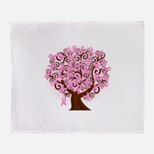 The Tree of Life...Breast Cancer Throw Blanket