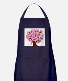 The Tree of Life...Breast Cancer Apron (dark)