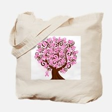 The Tree of Life...Breast Cancer Tote Bag