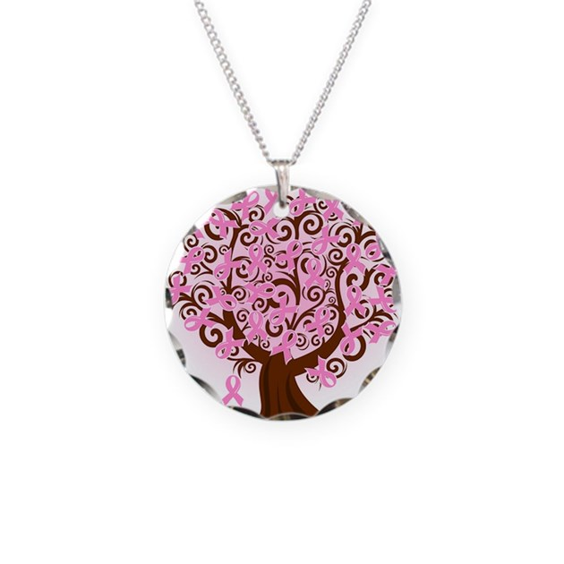 The tree of life breast cancer necklace by for Breastmilk jewelry tree of life