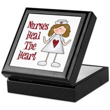 Nurses Heal The Heart Keepsake Box