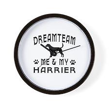 Harrier Dog Designs Wall Clock