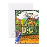 New orleans christmas Greeting Cards (10 Pack)