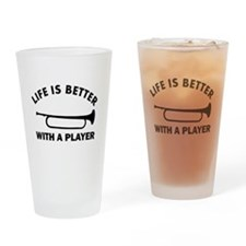 Bugle Designs Drinking Glass