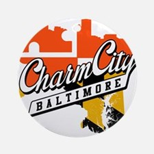 Charm City Ornament (Round)