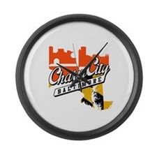 Charm City Large Wall Clock