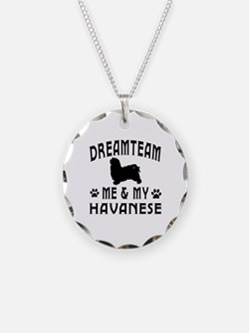 Havanese Dog Designs Necklace
