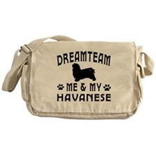 Havanese Dog Designs Messenger Bag