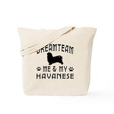 Havanese Dog Designs Tote Bag