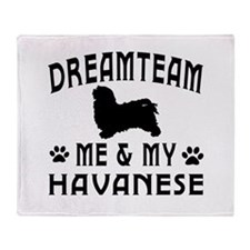 Havanese Dog Designs Throw Blanket