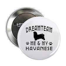 """Havanese Dog Designs 2.25"""" Button (10 pack)"""