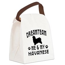 Havanese Dog Designs Canvas Lunch Bag