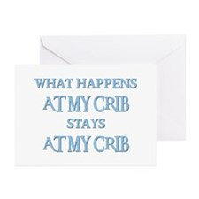STAYS AT MY CRIB Greeting Cards (Pk of 10)