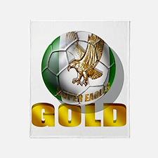 Nigerian Football Gold Throw Blanket