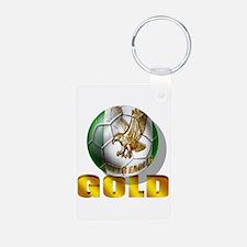 Nigerian Football Gold Keychains
