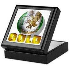 Nigerian Football Gold Keepsake Box