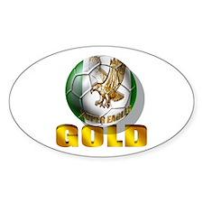 Nigerian Football Gold Decal