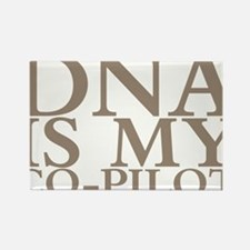 DNA is my co-pilot Rectangle Magnet