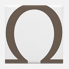 The Greek Alpha Symbol Tile Coaster