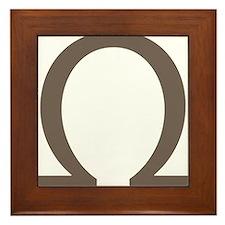 The Greek Alpha Symbol Framed Tile