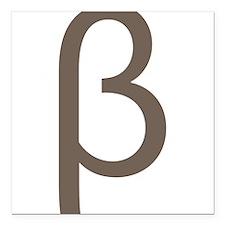 "Greek Symbol Beta Square Car Magnet 3"" x 3"""