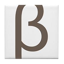 Greek Symbol Beta Tile Coaster