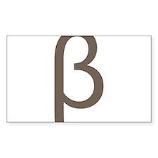 Greek Symbol Beta Decal