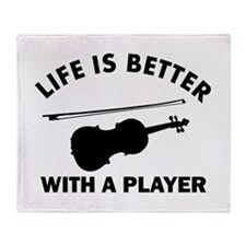 Violin Designs Throw Blanket