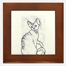 Devon Rex Purebred Kitty Cat Framed Tile
