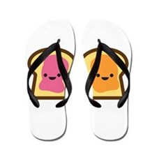 Peanut Butter Jelly Time Flip Flops