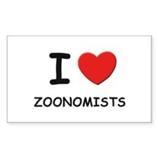 I Love zoonomists Rectangle Decal