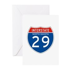 Interstate 29 - SD Greeting Cards (Pk of 10)