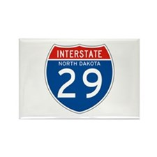 Interstate 29 - SD Rectangle Magnet