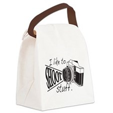 I like to SHOOT stuff Canvas Lunch Bag