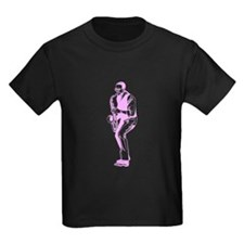 Pink Blues Sax Player T-Shirt