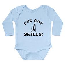 Gymnastics Designs Long Sleeve Infant Bodysuit