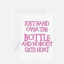 HAND OVER THE BOTTLE Greeting Cards (Pk of 10)