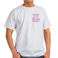 HAND OVER THE BOTTLE Ash Grey T-Shirt
